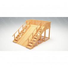 Зимняя деревянная игровая горка Савушка Зима wood - 4