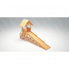 Зимняя деревянная игровая горка Савушка Зима wood - 5