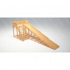 Зимняя деревянная игровая горка Савушка Зима wood - 6