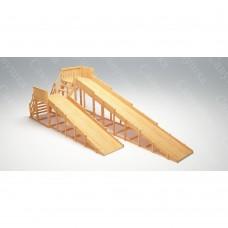 Зимняя деревянная игровая горка Савушка Зима wood - 7