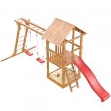 Детская деревянная площадка Сибирика с рукоходом