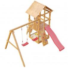 Детская деревянная площадка Сибирика с сеткой