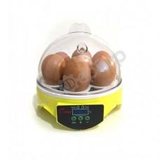 Мини инкубатор для яиц на 7 яиц HHD 7 с терморегулятором