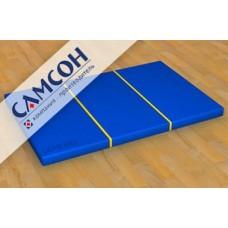 Мат гимнастический складной 1м х 1,5м сине-жёлтый