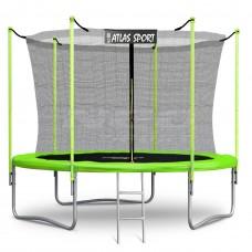 Батут Atlas Sport 312 см (10ft) (внутренняя сетка и лестница) GREEN