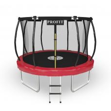 Батут ProFit Champion Red 312 см - 10 ft с защитной сеткой и лестницей