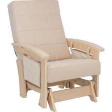 Кресло-качалка глайдер Импэкс Нордик натуральное дерево ткань Verona vanilla