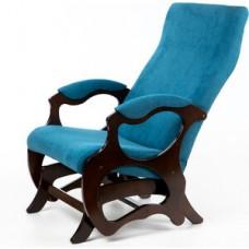 Кресло глайдер Мебелик Санторини бирюза/орех