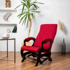 Кресло глайдер Мебелик Санторини бордо/орех