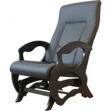 Кресло глайдер Мебелик Санторини экокожа черный/венге