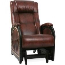 Кресло-качалка глайдер Импэкс Модель 48 венге с лозой, обивка Antik crocodile