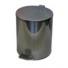 Урна металлическая с педалью 15 литров (Хром)