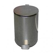 Урна металлическая с педалью 20 литров (Хром)