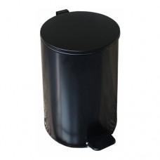 Урна металлическая с педалью 20 литров (Черная)