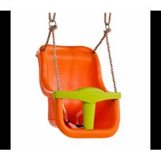 Детские подвесные качели KBT Baby Luxe (оранжевый/салатовый)