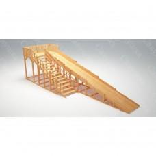 Зимняя деревянная игровая горка Савушка Зима wood - 8 (скат 9 м.)
