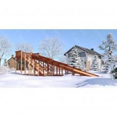 Зимняя деревянная игровая горка Савушка Зима - 8 (скат 9 м.)