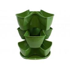 Кашпо Prosperplast Coubi DKN3003-370U (зеленый)