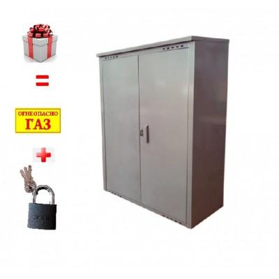 Шкаф для газовых баллонов на 2 баллона 50л фото