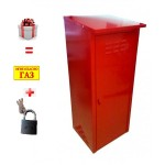 Шкаф для газовых баллонов на 1 баллон 50л (Красный)