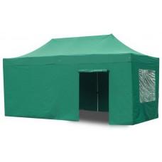 Тент садовый быстросборный Helex 4336 S8.2, 3x4.5м зеленый
