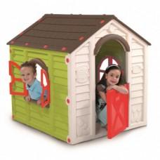 Уличный детский домик PLAY HOUSEсалатовый/коричневый