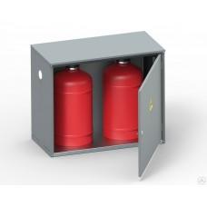 Ящик для двух газовых баллонов Металл-Завод ШГР 27-2-4 (2×27л) серый