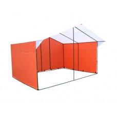 "Палатка ""Домик"" 4,0х3,0 К (каркас из квадратной трубы 20х20 мм, тент - ПВХ 350 гр. м2 )"