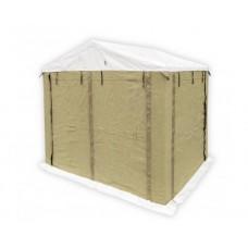 Палатка сварщика 2.0х2.0 (ПВХ+брезент) каркас из квадратной трубы 20х20 мм. В комплекте 4 стенки.