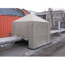 Палатка сварщика 2.5х2.5 (брезент)                                                                                                Каркас усиленный. В комплекте 4 стенки.