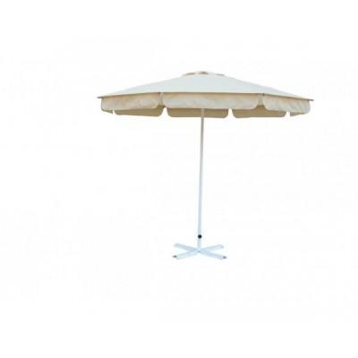 Зонт Митек  2.5 м с воланом (алюминевый каркас с подставкой, стойка 40мм, 8 спиц 20х10мм, тент OXF 240D) фото
