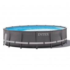 Каркасный бассейн Intex 26330 ULTRA XTR™ FRAME 549х132см +фильтр-насос 7900 л.ч, лестница, тент, подложка