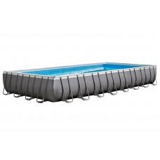 Каркасный бассейн Intex 26378 ULTRA XTR™ PREMIUM 975х488х132см +фильтр-насос с хлоргенератором 10000 л.ч, лестница, тент, подложка, набор для чистки,