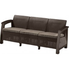 Диван пластиковый Bahamas max love seat, коричневый