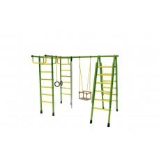 Уличный спортивный комплекс Лидер Д1-02 зелёно/жёлтый