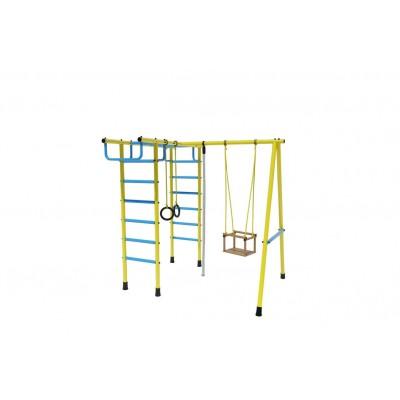 Уличный спортивный комплекс Лидер Д2-04 голубой/жёлтый фото