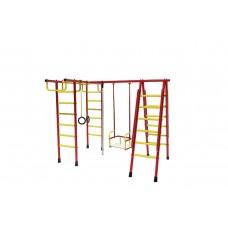 Уличный детский спортивный комплекс Лидер Д1-03 (мет. качели) красно/жёлтый