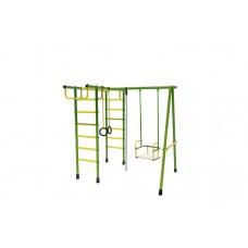 Уличный детский спортивный комплекс Лидер Д2-02 (мет. качели) зелёно/жёлтый