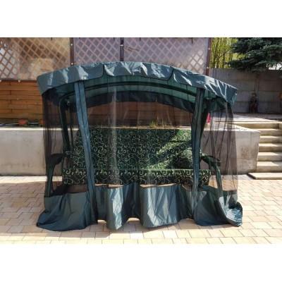 Садовые качели Атлант XXL Зелёный вензель фото