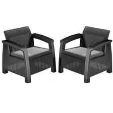 Комплект мебели Bahamas Duo Set (Багамас Дуо Сэт), графит