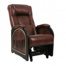 Кресло-качалка глайдер Комфорт Модель 48 венге с лозой/ Antik crocodile