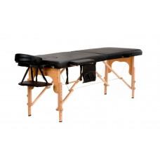 Массажный стол Atlas Sport складной 2-с деревянный чёрный