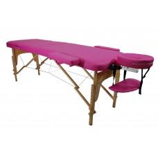 Массажный стол Atlas Sport складной 3-с деревянный бургунди