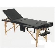 Массажный стол Atlas Sport складной 3-с деревянный чёрный