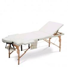 Массажный стол Atlas Sport складной 3-с деревянный кремовый