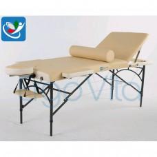 Массажный стол Бежевый (осн)+кремовый ErgoVita MASTER ALU COMFORT PLUS