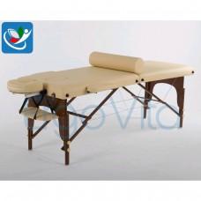 Массажный стол Бежевый+коричневые ноги ErgoVita MASTER