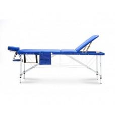 Массажный стол Body Fit складной 3-с алюминиевый XXL синий