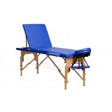 Массажный стол Body Fit складной 3-с деревянный синий