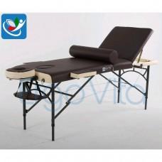 Массажный стол Коричневый (осн)+Кремовый ErgoVita MASTER ALU PLUS